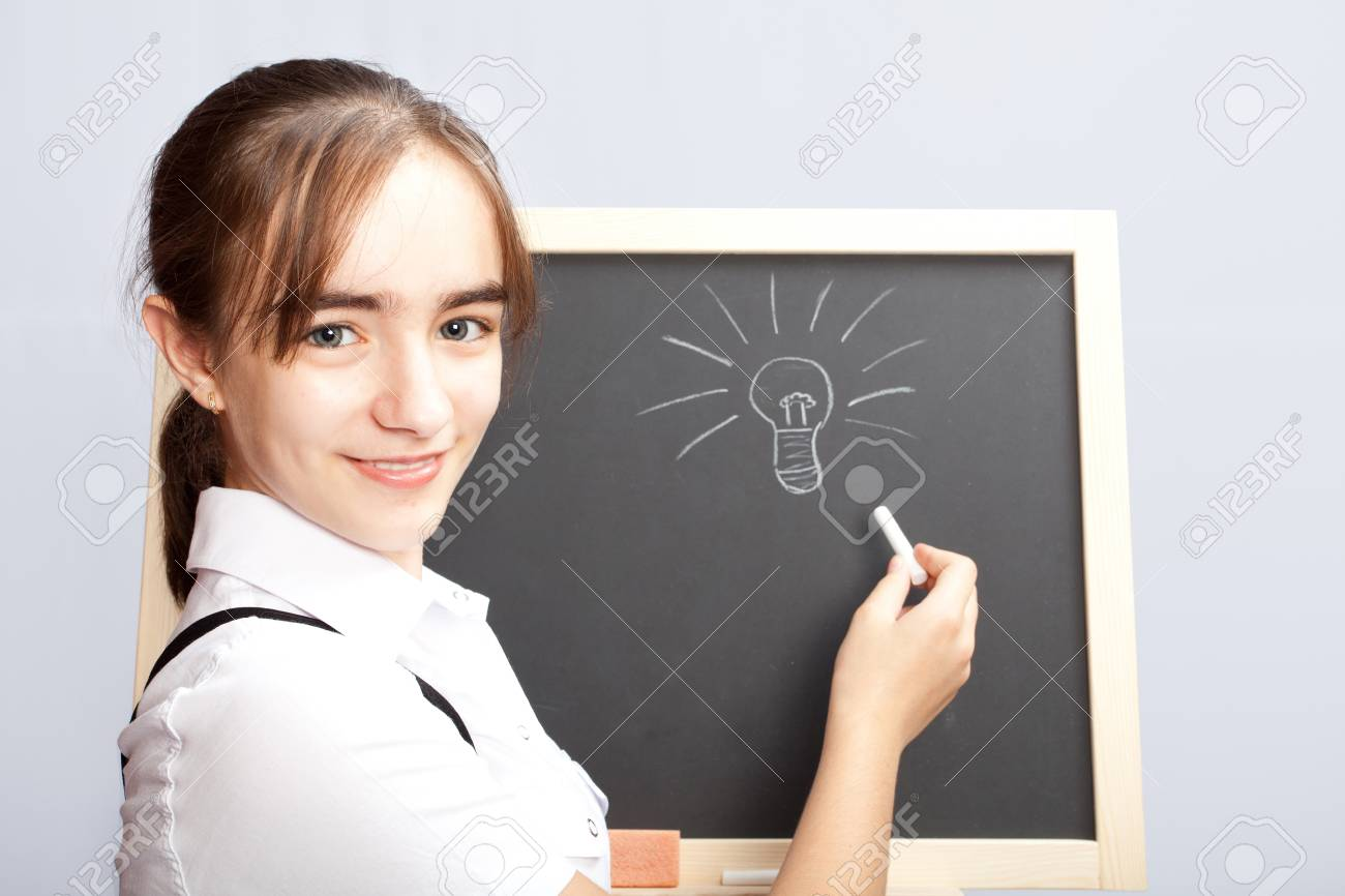 schoolgirl about a schoolboard made the correct decision Stock Photo - 10506112
