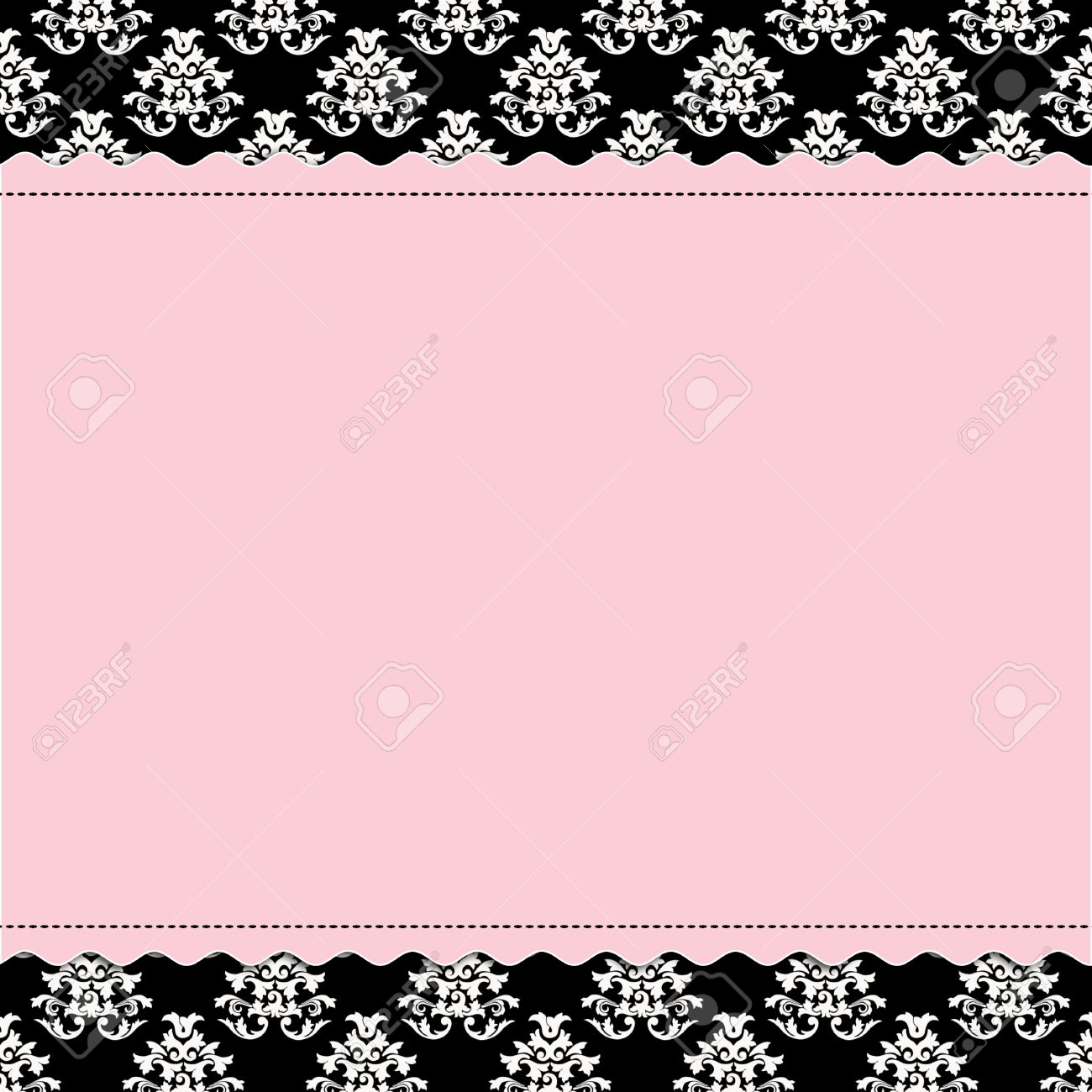 Baby Girl scrapbook page - Birth Announcement Stock Photo - 11989792