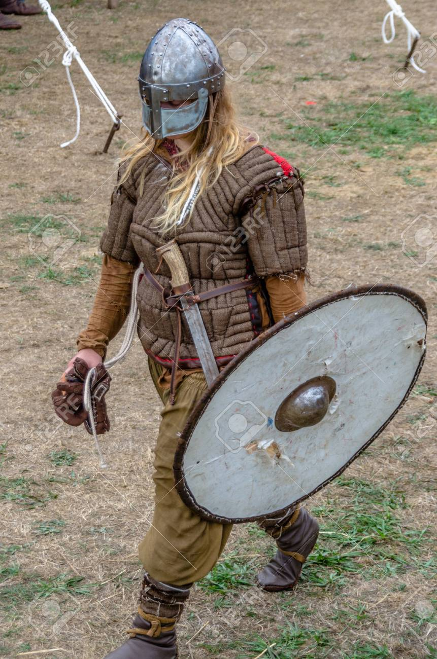 Levin New Zealand - February 10 2018 Authentic armour costume at a medieval & Levin New Zealand - February 10 2018: Authentic Armour Costume ...