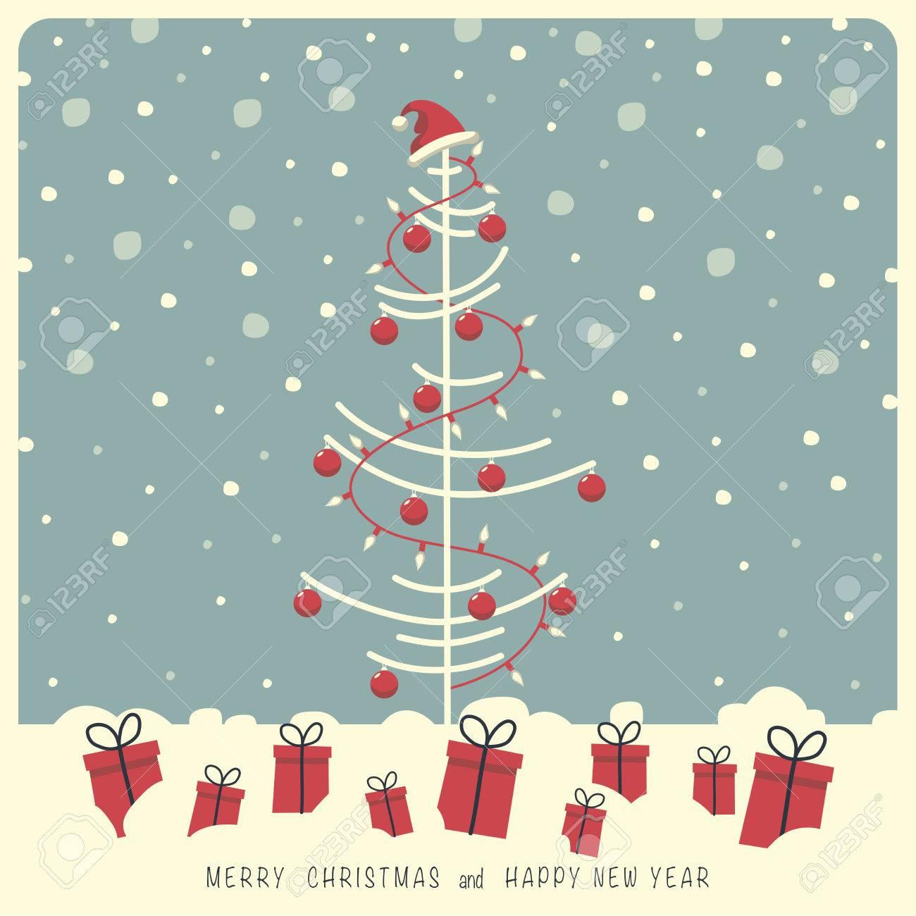 Weihnachtsbaum Schneit.Stock Photo