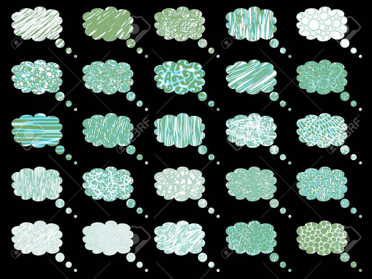 Rain dialogue balloon clouds Stock Photo - 11734527