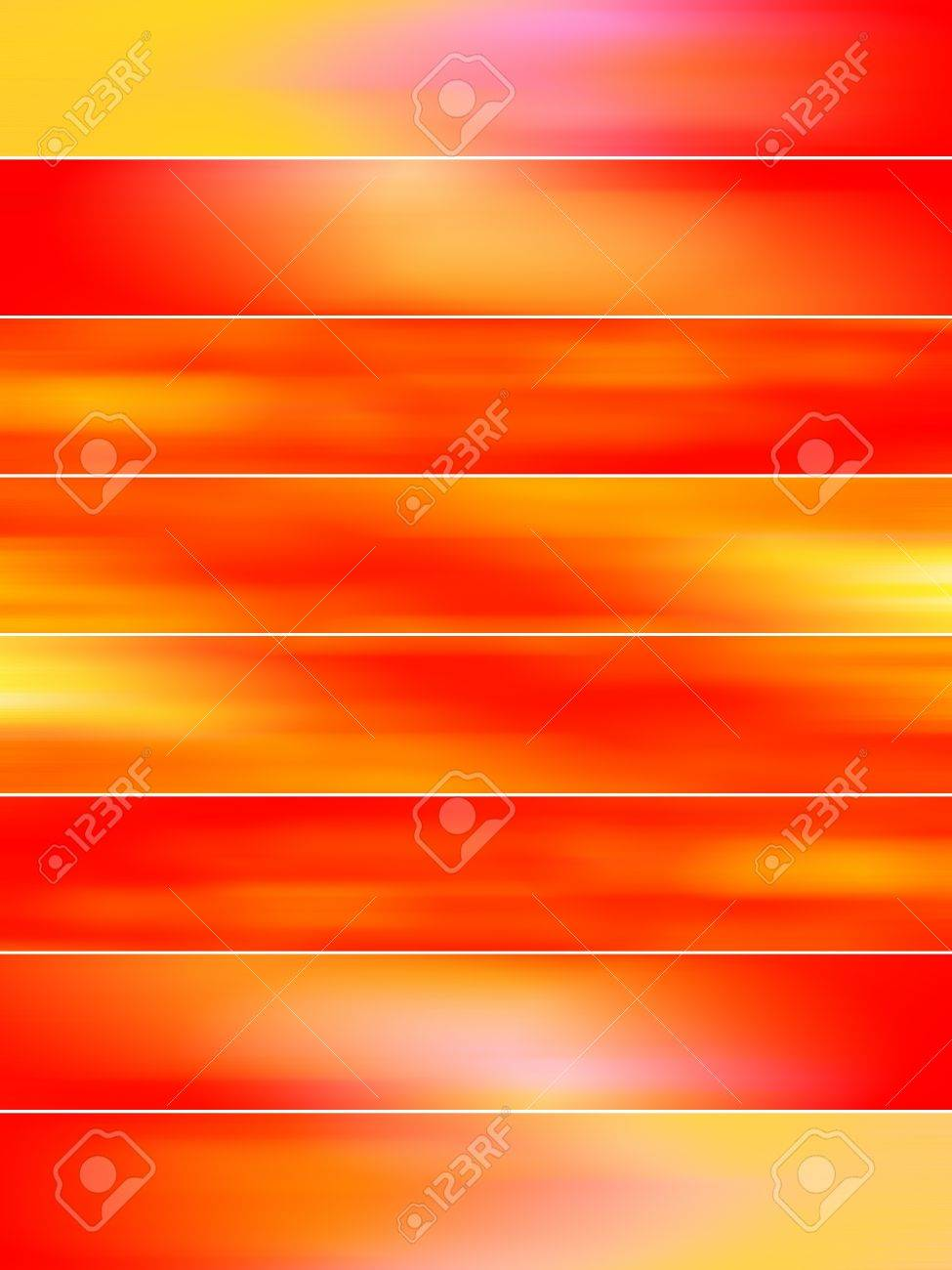 Abstract redish orange blured banners backdrops Stock Photo - 11988946