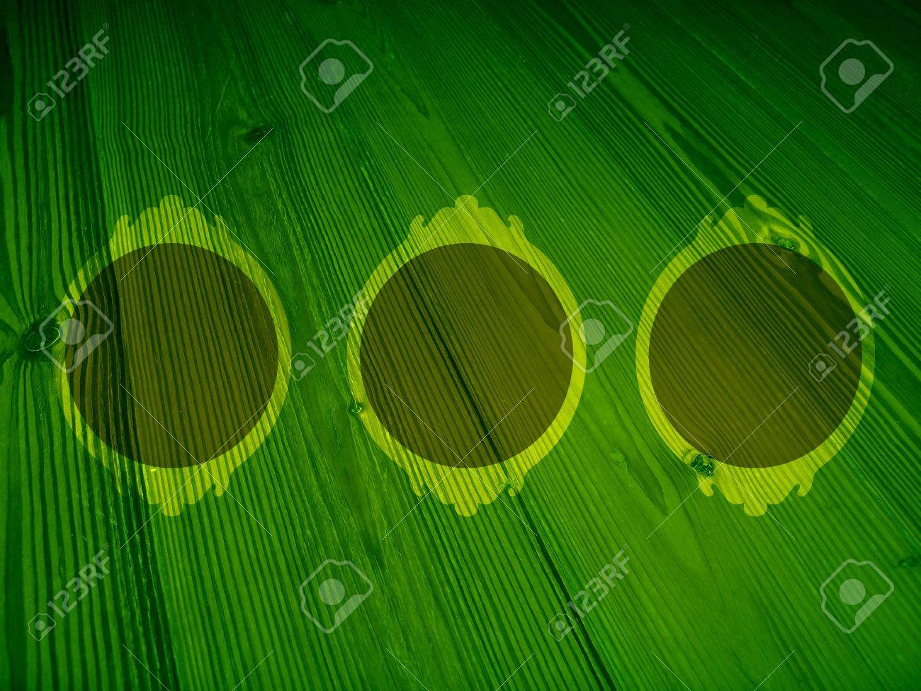 Hope green trio of frames on old wood backdrop Stock Photo - 12003221