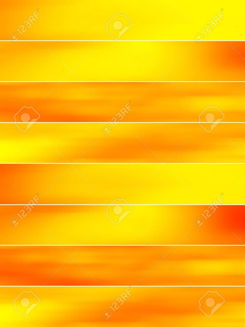 バナーの背景に黄色とオレンジ色のぼかしのライト ロイヤリティーフリー