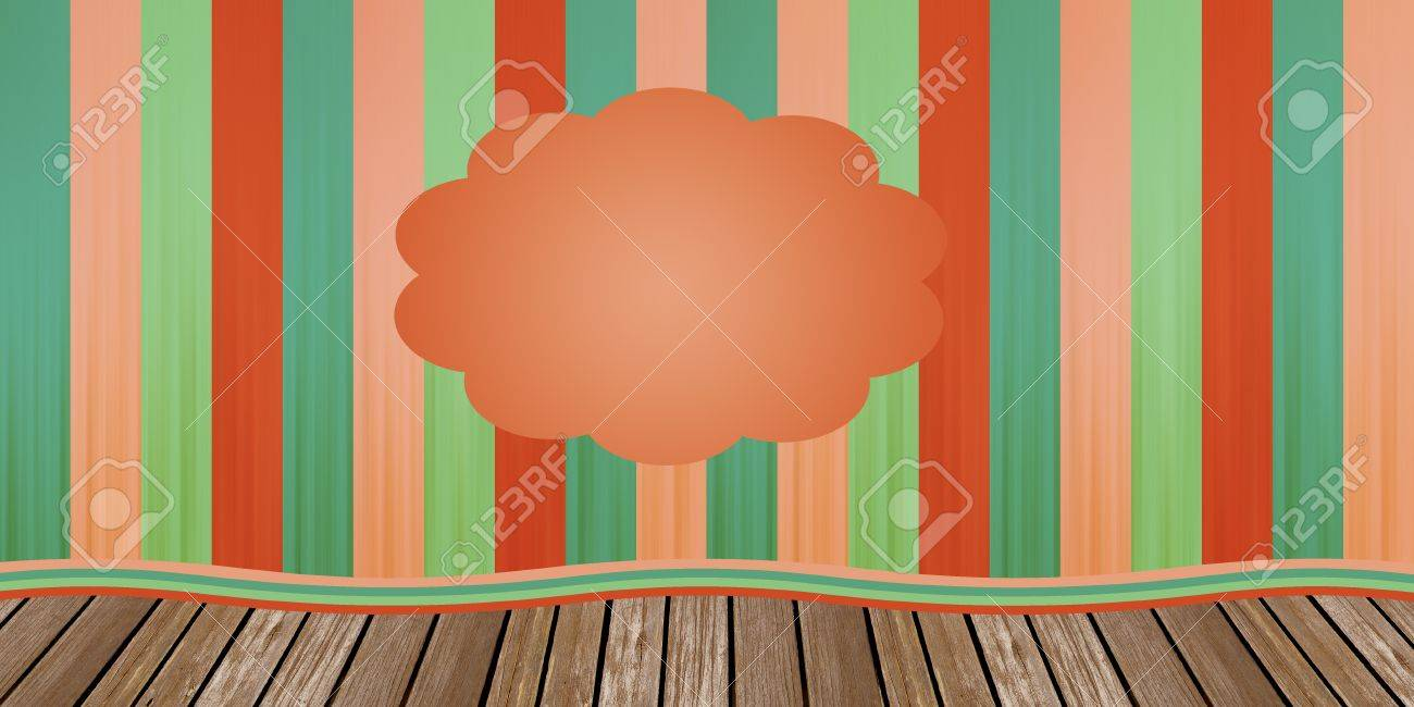Circus or theatre closed curtain in red and green tones on the wood scenario Stock Photo - 12045597