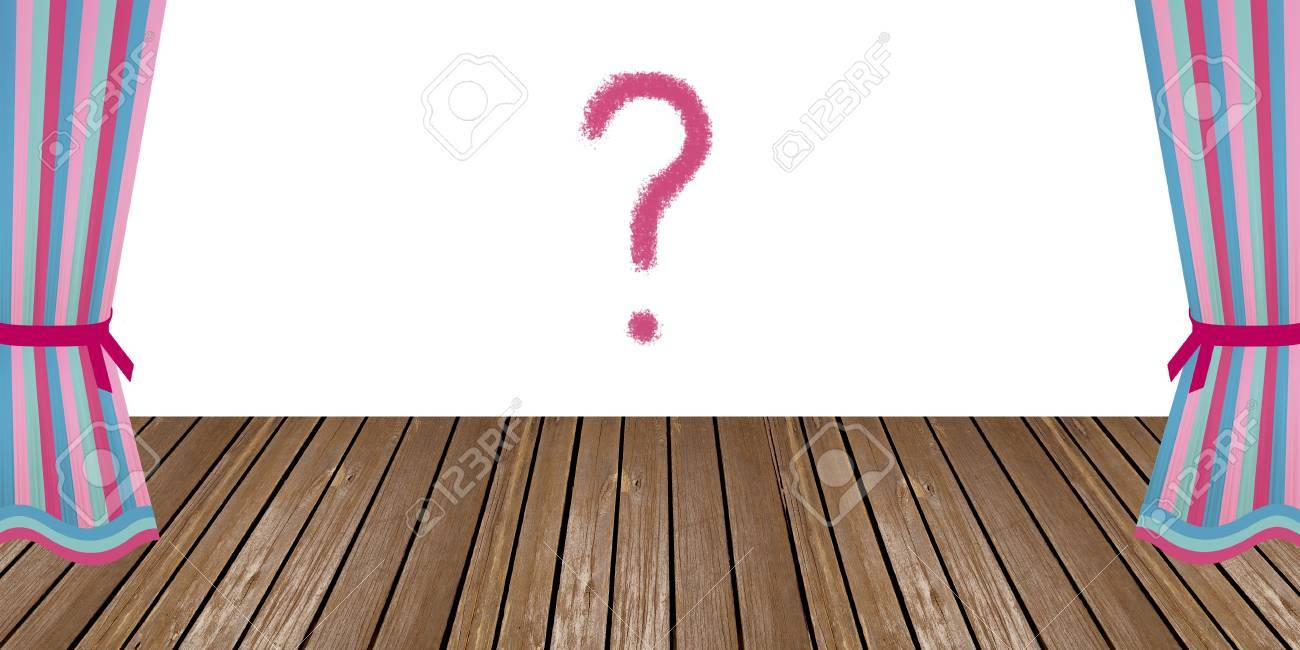 mistery and expectation question mark in the middle of an empty mistery and expectation question mark in the middle of an empty theatre opened scenario full