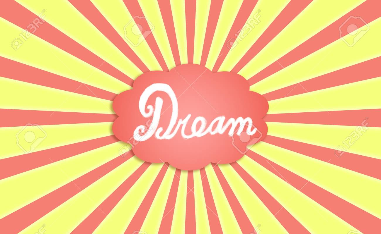 Funny background with concept of dreaming in sunny day Stock Photo - 12126735