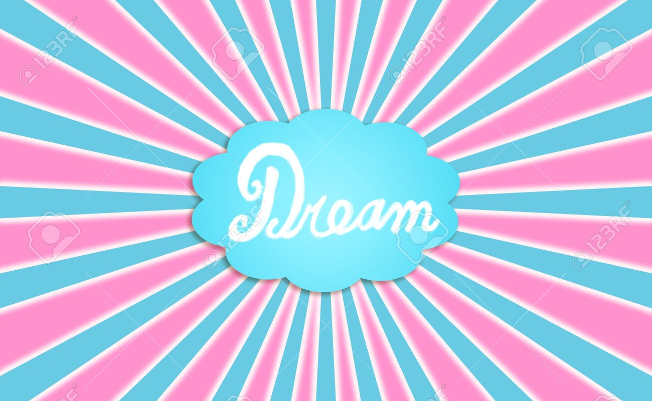 stock photo water dream in white pink and blue background