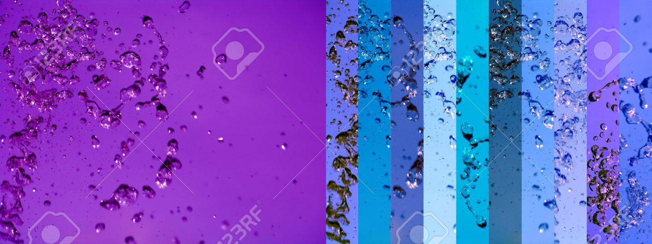 Purple and blue background with water splash movement in banners Stock Photo - 12427001