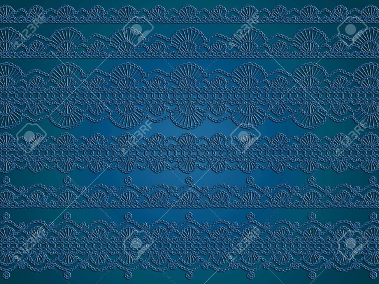 dunkelblau cian anspruchsvollen luxuriösen hintergrund der tapeten mit  gehäkelten muster