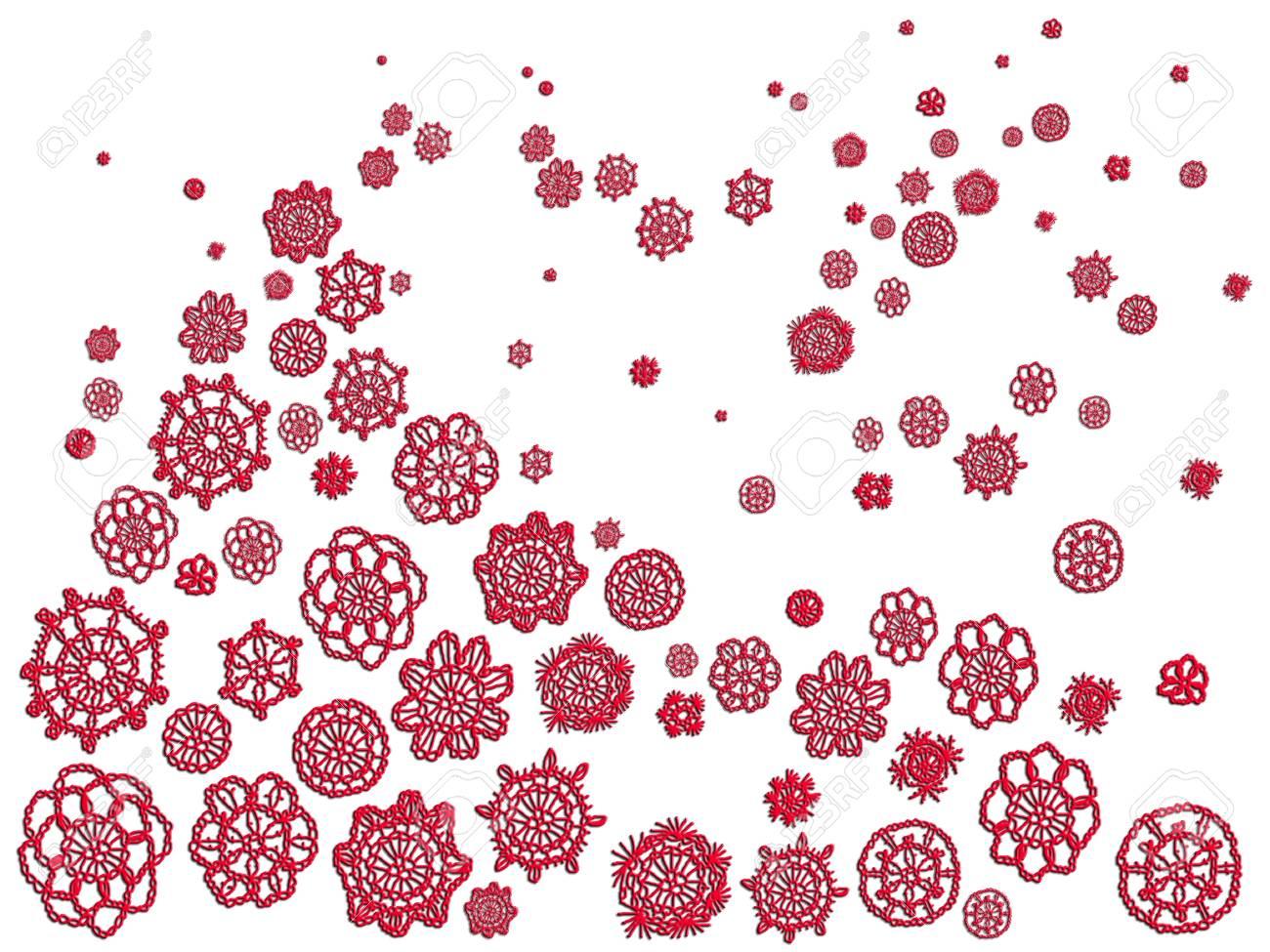 Antecedentes De La Ilustración De Navidad Con Ebay Crochet Rojas De ...