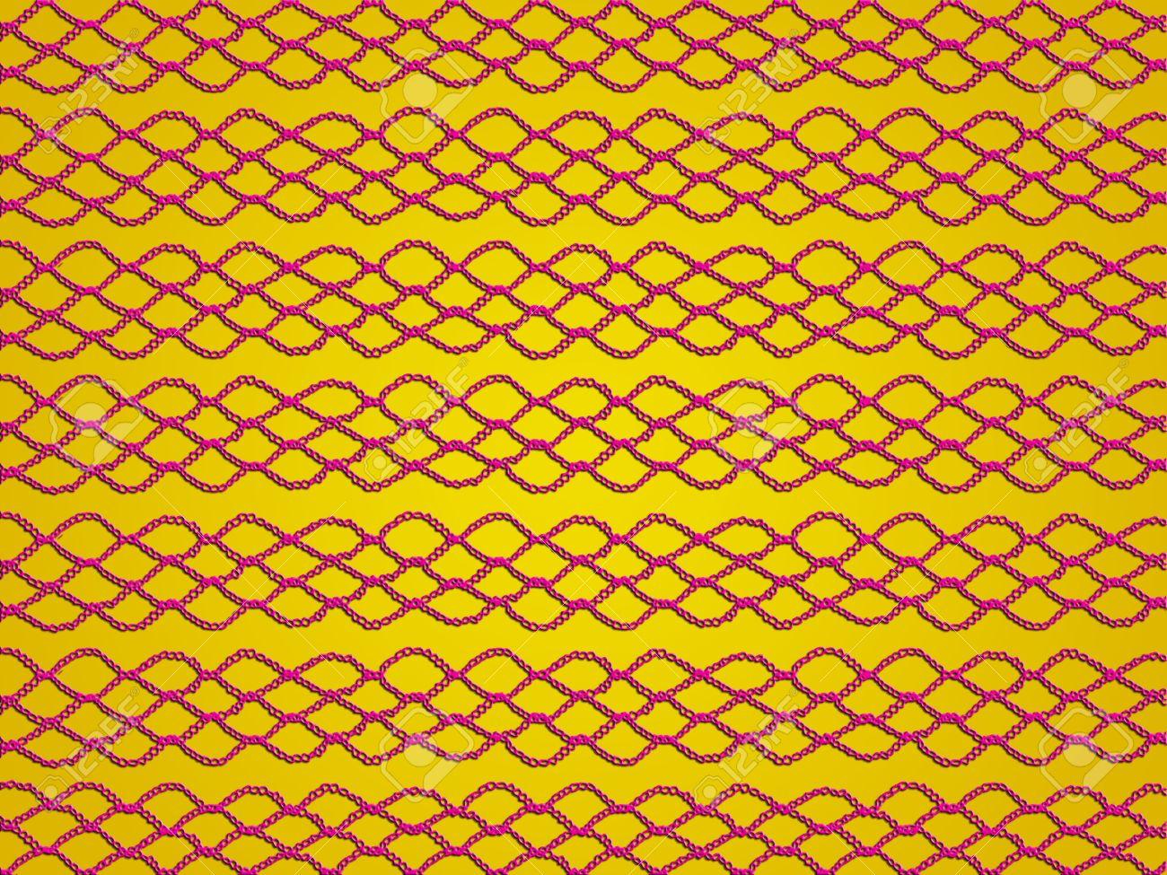 De Fondo Ocre Amarillo Con Enlaces Rojos En Crochet Patrón De ...