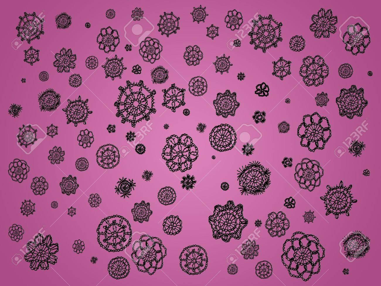 Suave Luz De Color Rosa Con Negro Sobger Elegantes Flores De ...