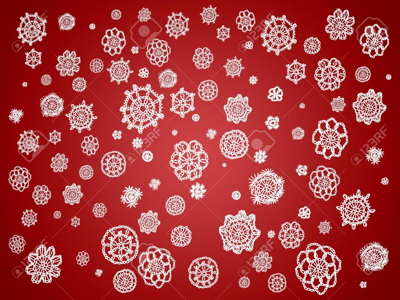 Romantique De Noel De Cru Papier Peint En Rouge Et Blanc Avec Des