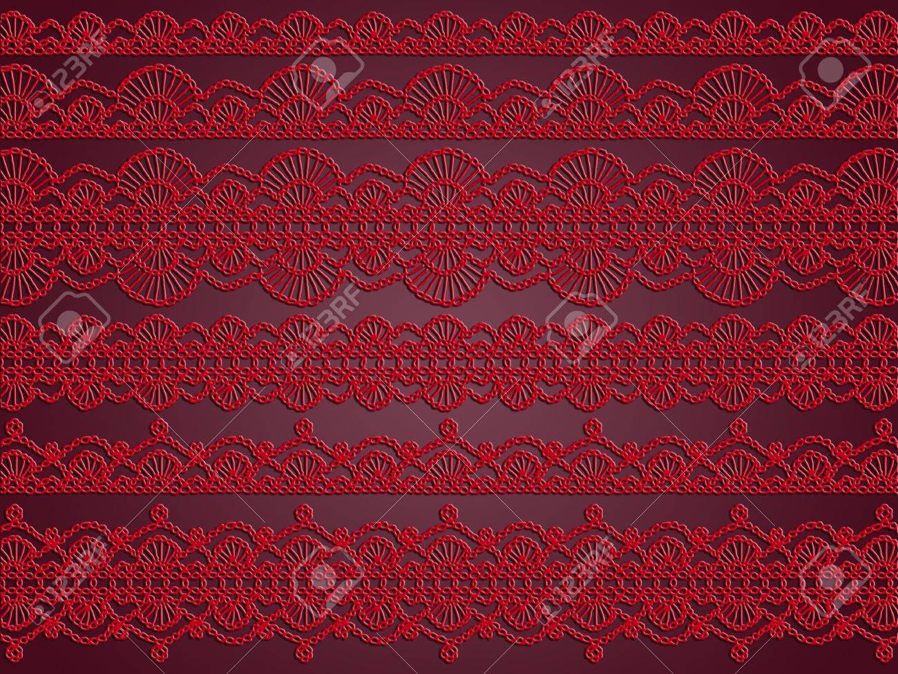 Rouge Et Noir Elegance Pourpre Papier Peint Vintage Romantique