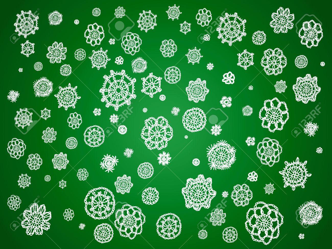 Tradition Traditions Vintage Crochet De L Artisanat Vert Noel
