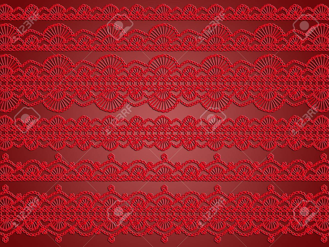Red crochet laces selection as an elegant xmas background or wallpaper Stock Photo - 12622783