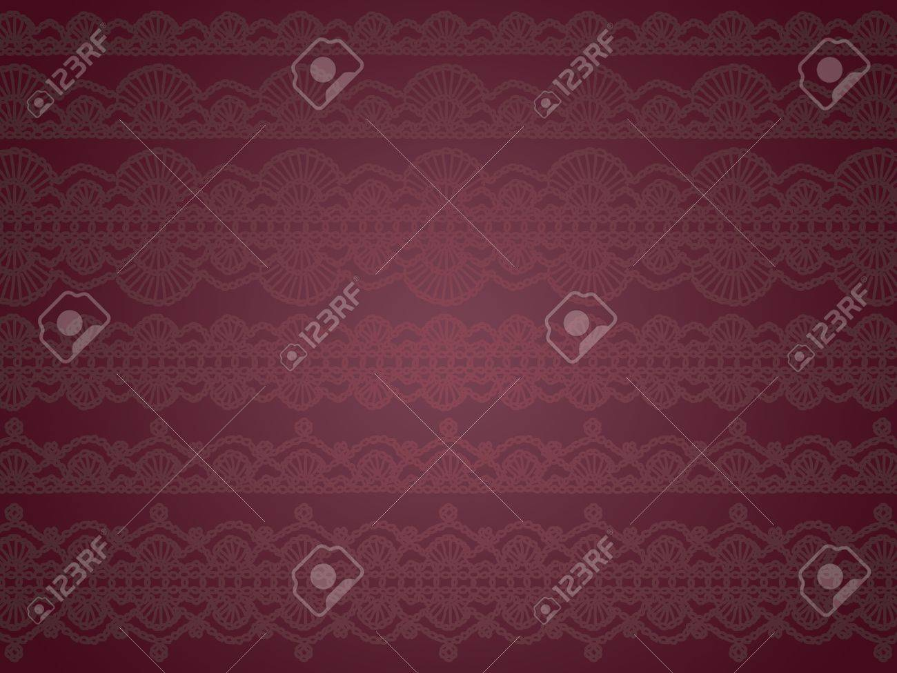 Dark Purple Elegant Background Or Wallpaper With Vintage Patterns Stock Photo