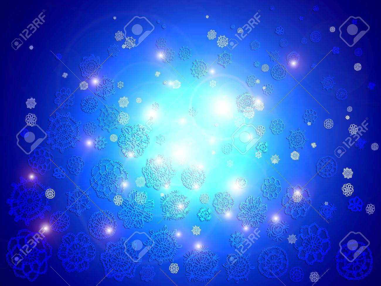 Blue oceanic lights floating composing a brilliant background Stock Photo - 12807734
