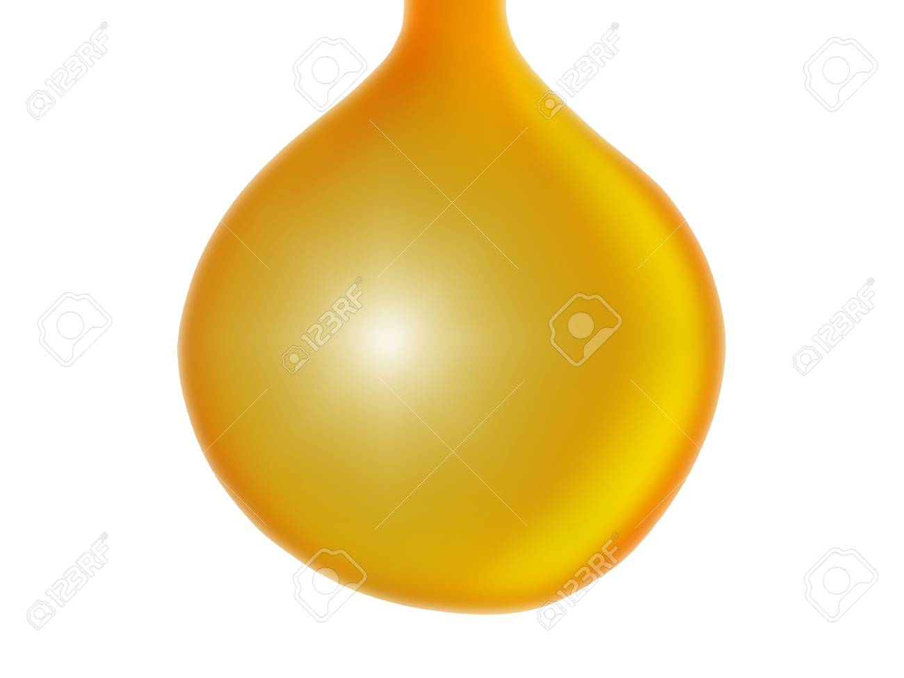 Yellow drop  isolated Stock Photo - 13524962