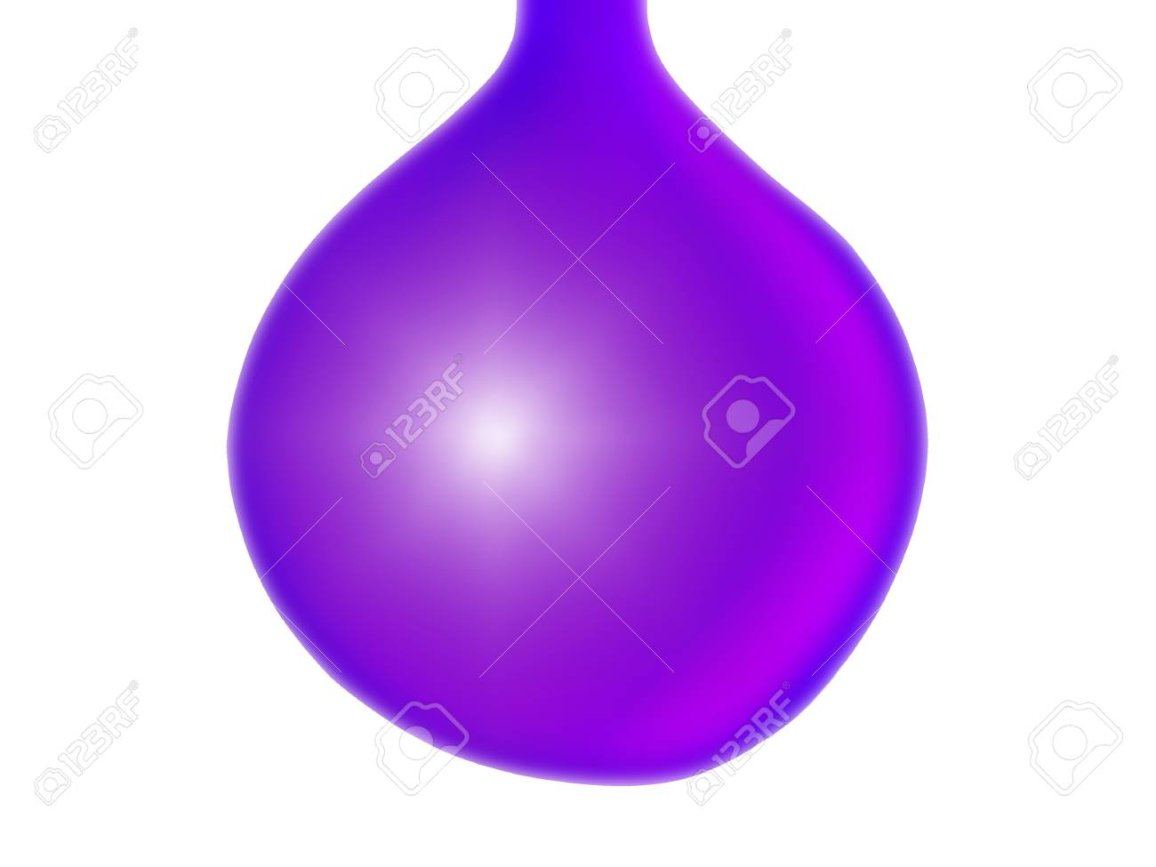 Purple violet drop or xmas balls isolated over white Stock Photo - 13524958