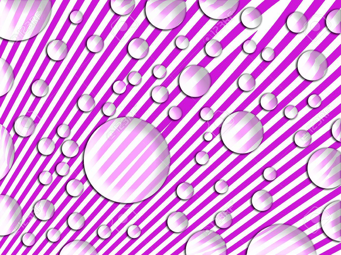 Colorless bubbles over violet striped fancy background Stock Photo - 13556377