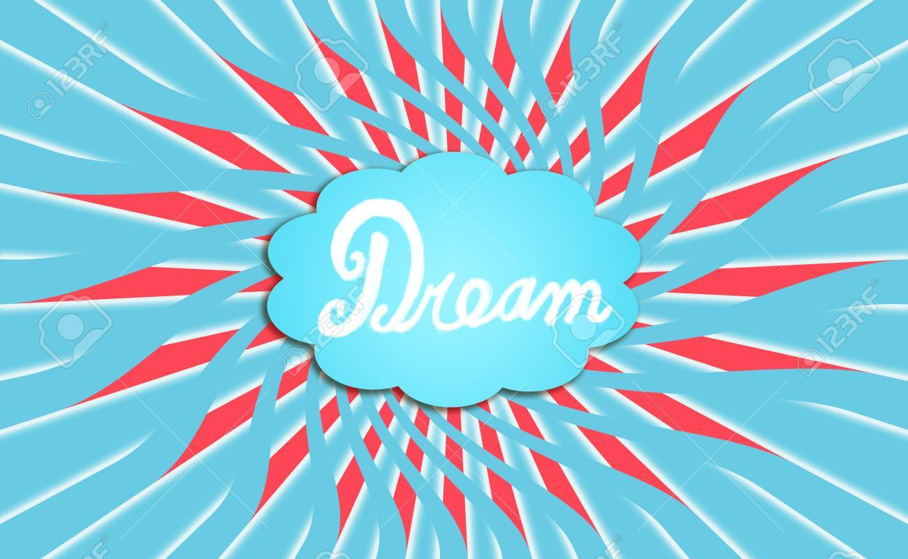 Turquoise blue cloud of a dream radiating energy Stock Photo - 13690159