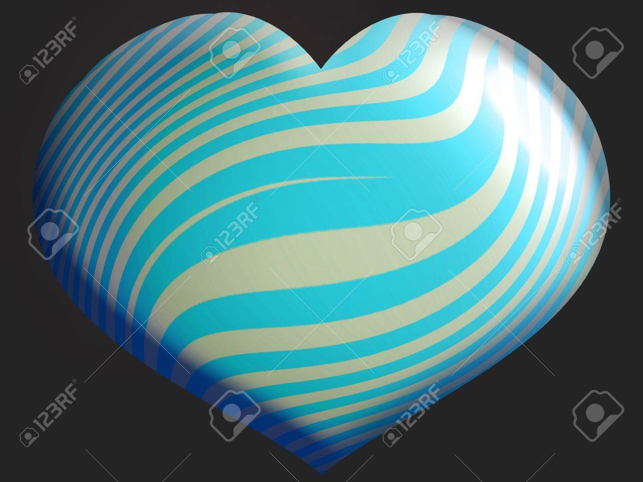 White and light blue heart balloon isolated over black Stock Photo - 13792452