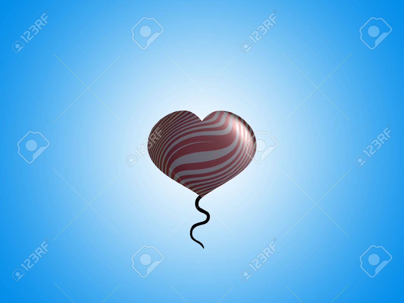 Romantic fancy floating balloon with space for text Stock Photo - 13792451