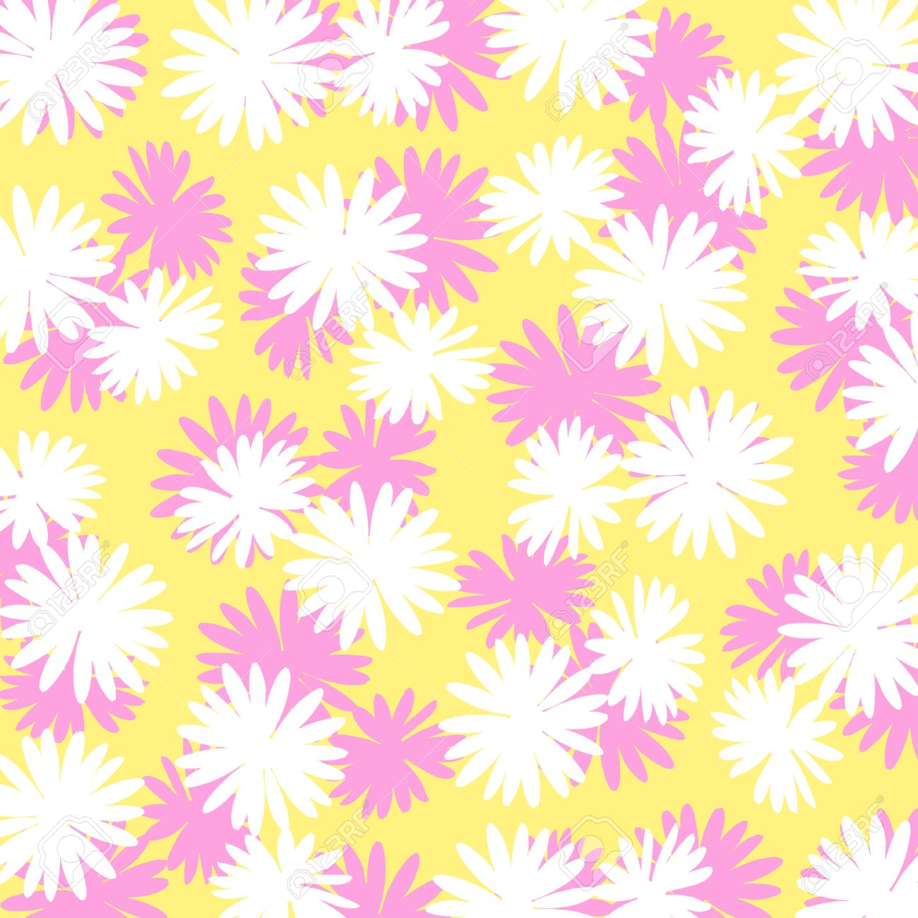 Pink and white flowers over light yellow background stock photo pink and white flowers over light yellow background stock photo 17508645 mightylinksfo