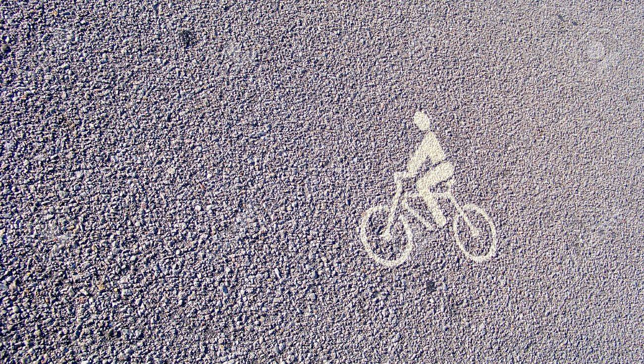 bike draw icon on street texture background stock photo picture and