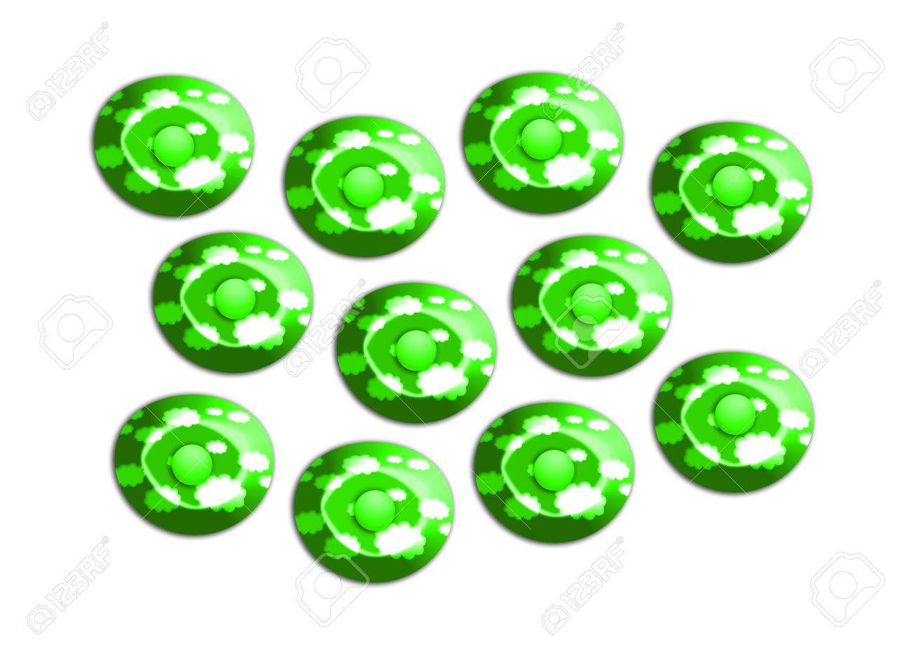 Brilliant green candies illustration Stock Photo - 20545886