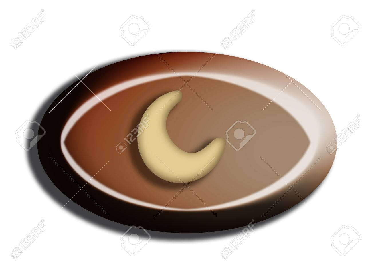 Black chocolate bombon with a nut isolated on white Stock Photo - 25151902