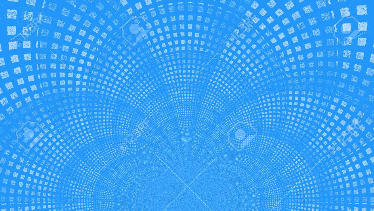 Light Blue Abstract Background Of Small Squares