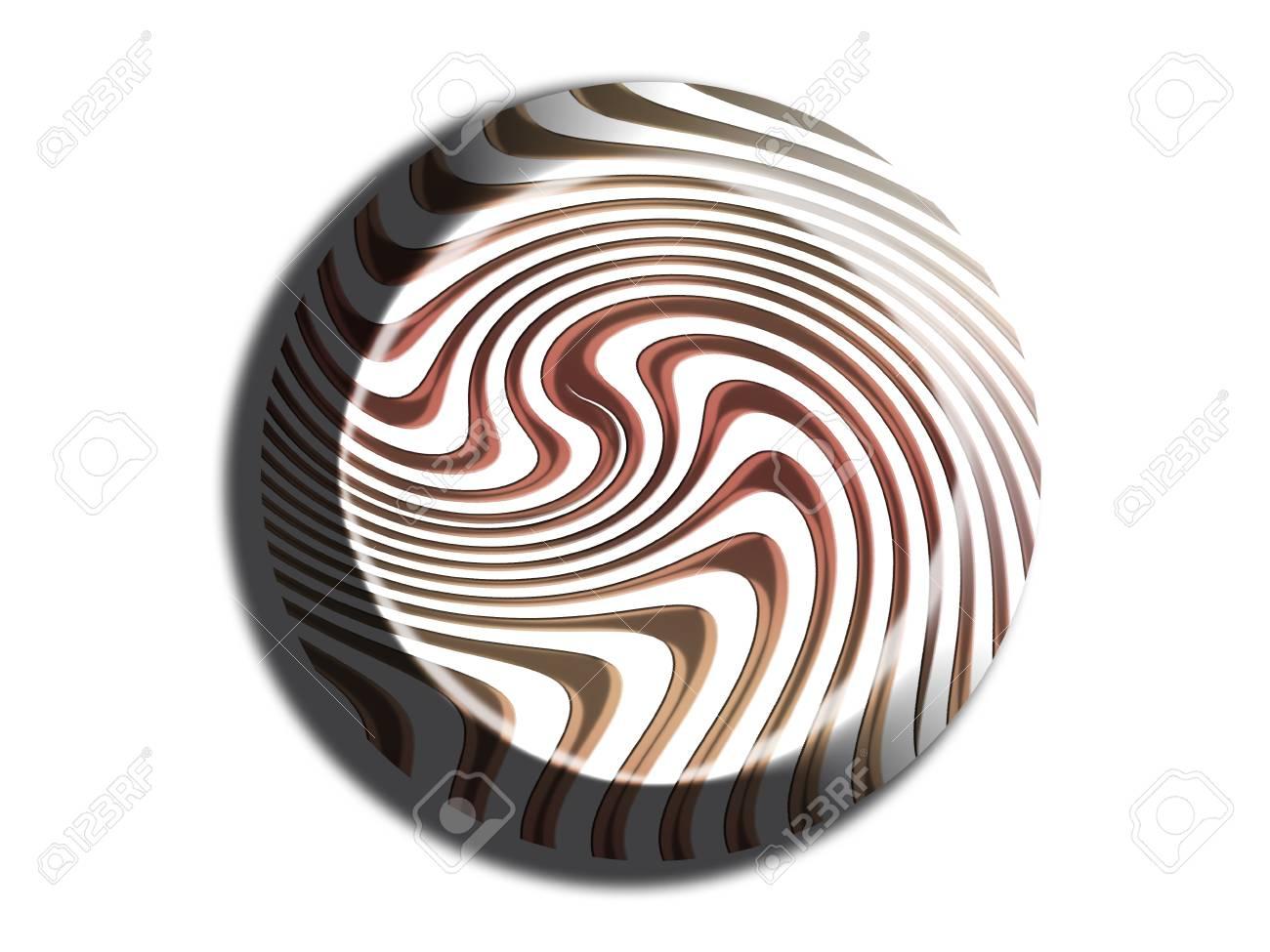 Striped bonbon chocolate 3d illustration on white Stock Illustration - 28819973