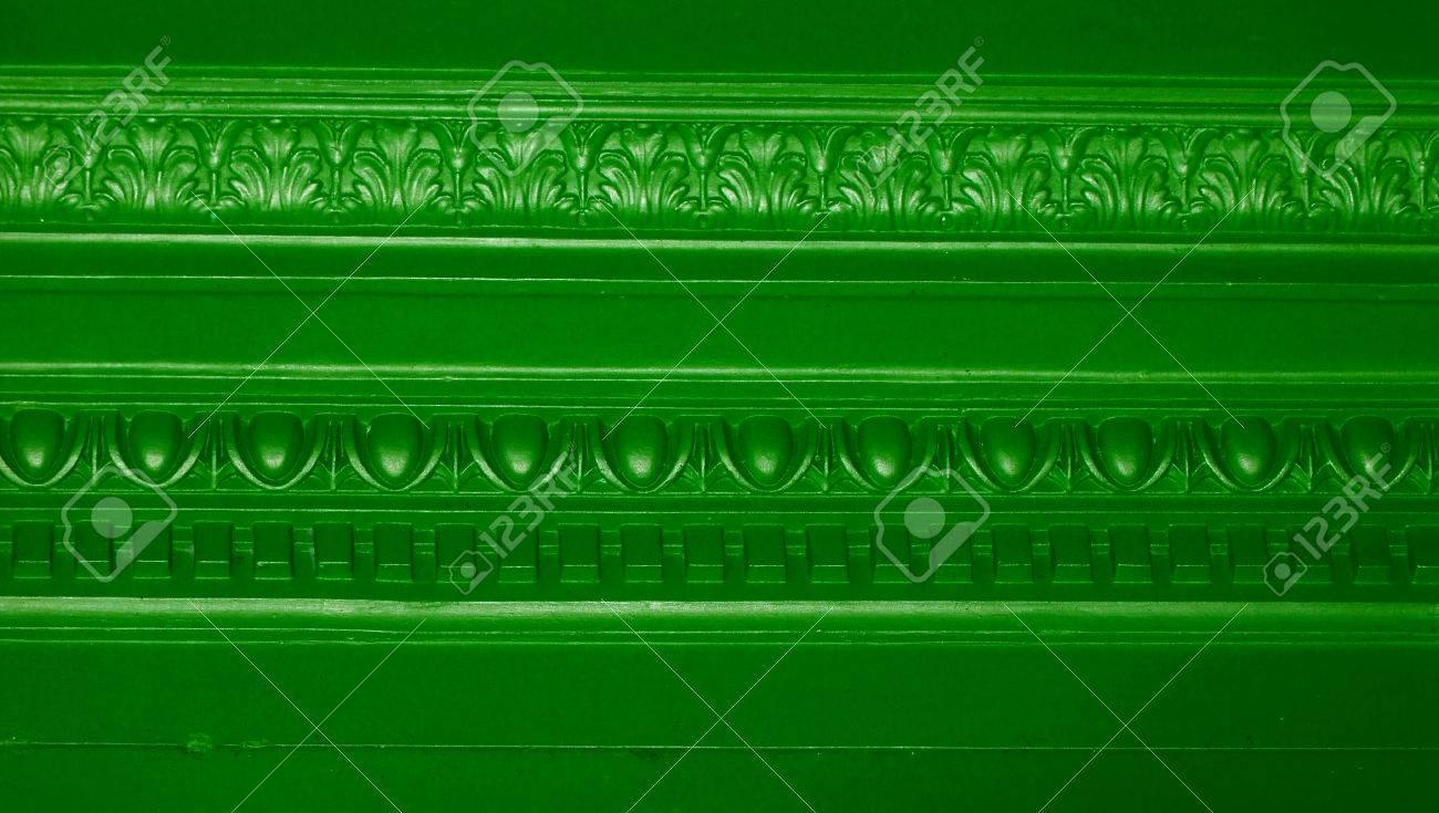 Elegante Grüne Wand Weinlese Ornamentalen Linien Hintergrund ...
