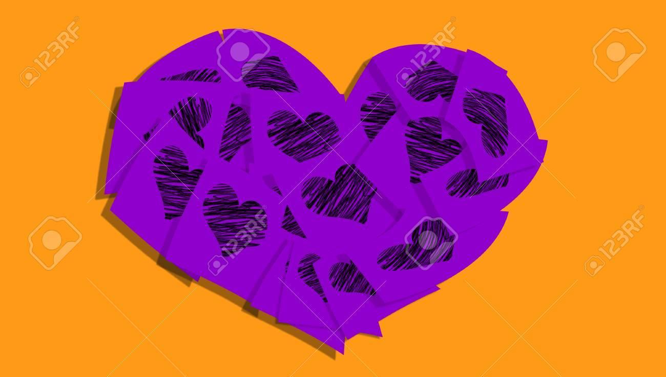 Purple heart love symbol on orange abstract background stock photo purple heart love symbol on orange abstract background stock photo 45554008 buycottarizona