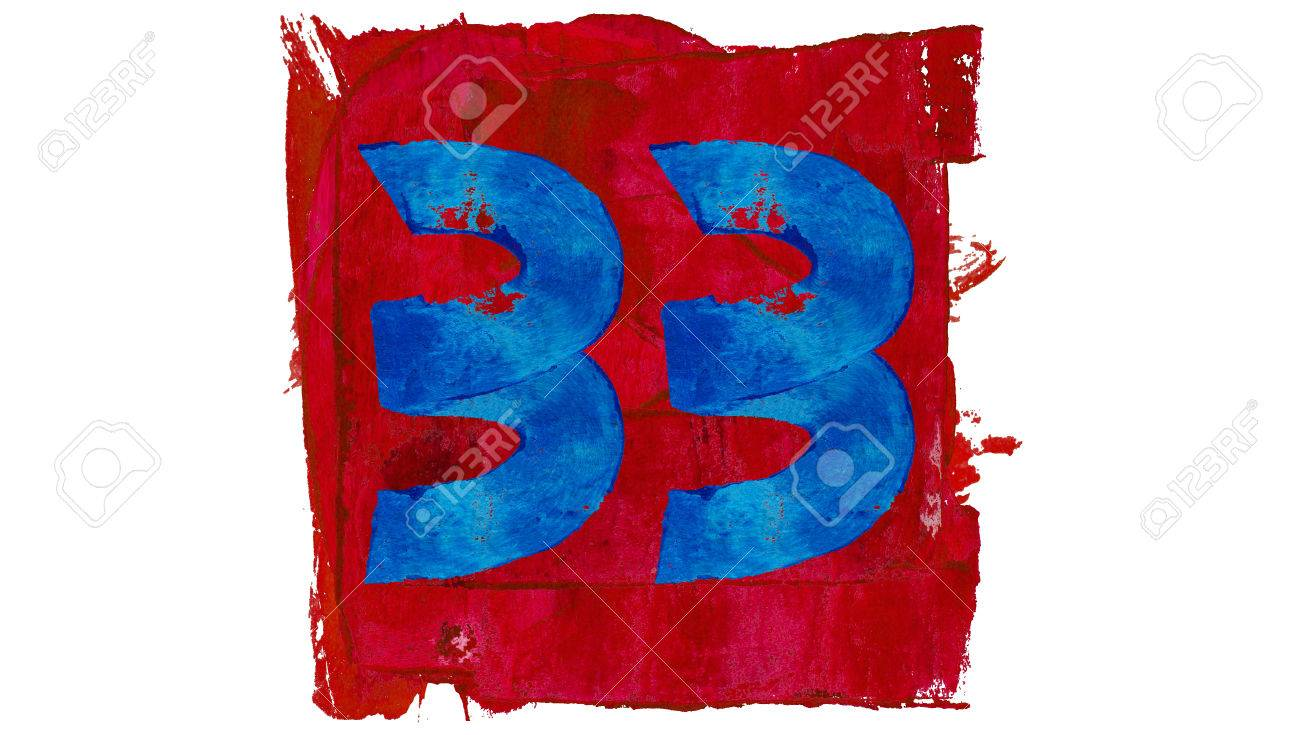 Number 33 free picture of the number thirty three - Number 33 Thirty Three Of Paint Colours Red And Blue Stock Photo 51178789