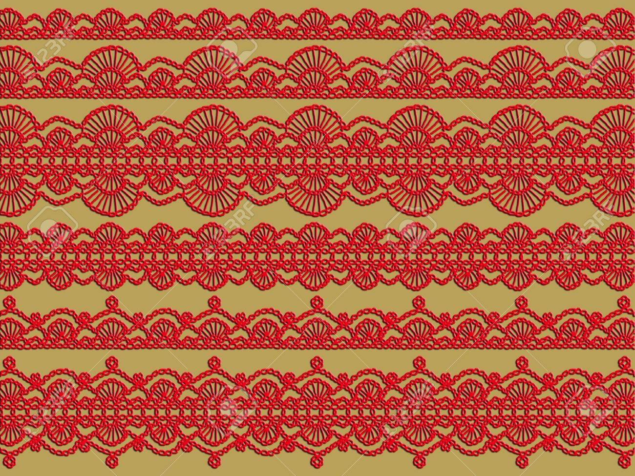 Red Vintage Elegant Häkelanleitungen Hintergrund Lizenzfreie Fotos ...