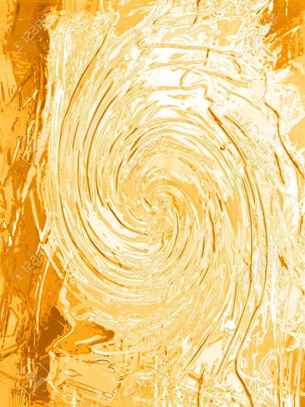 Ge Sso Login Ochre Painting Gesso Texture Spiral Background Stock Photo