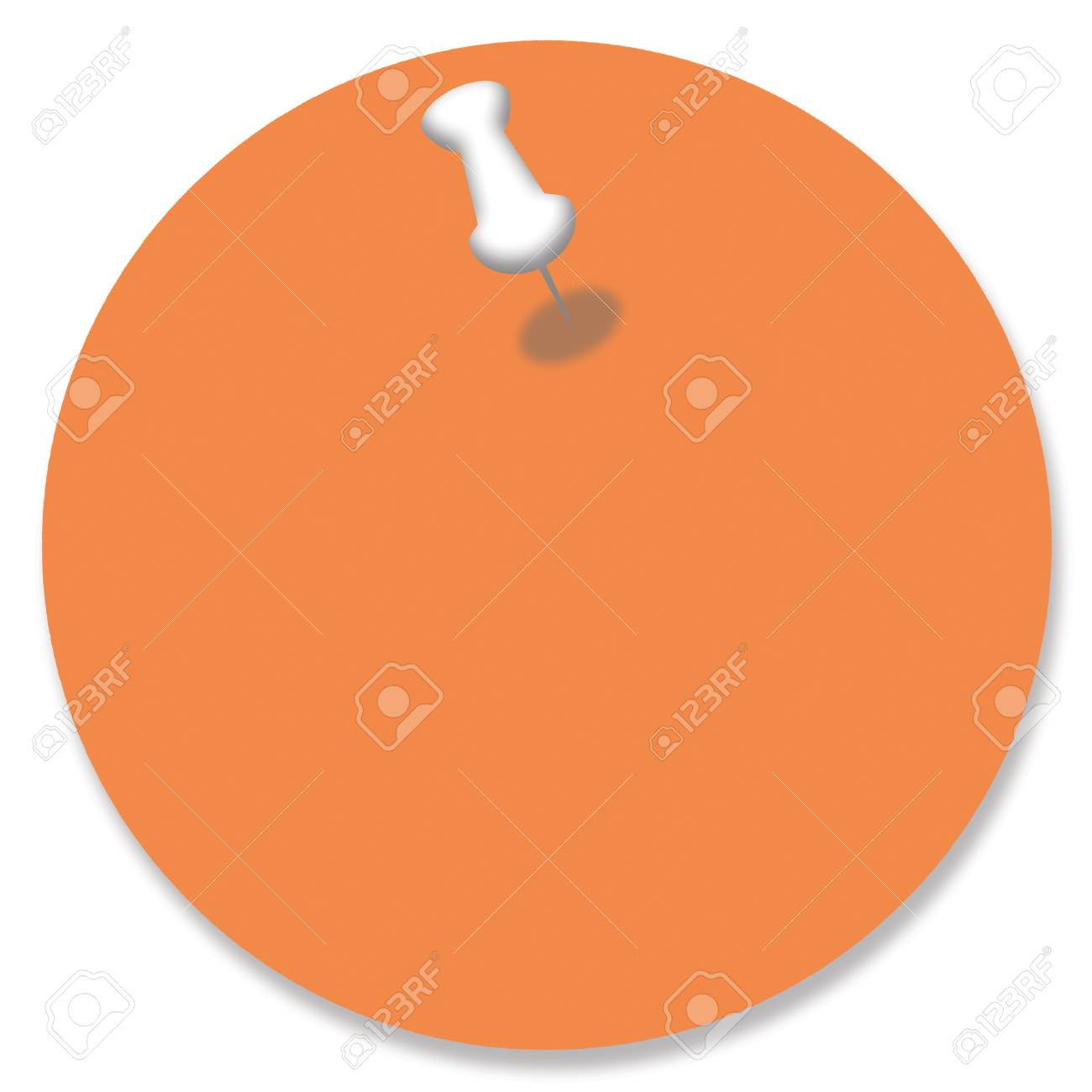 orange circular paper background with a pin stock photo picture and