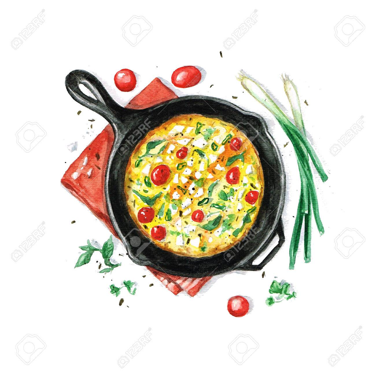 Fritata - Watercolor Food Collection - 51397731