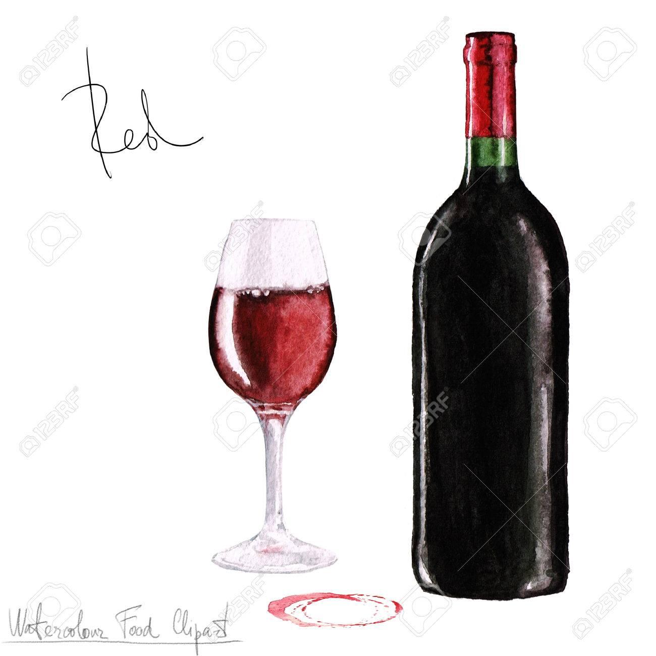 水彩食べ物クリップアート ワイン の写真素材画像素材 Image 52835007