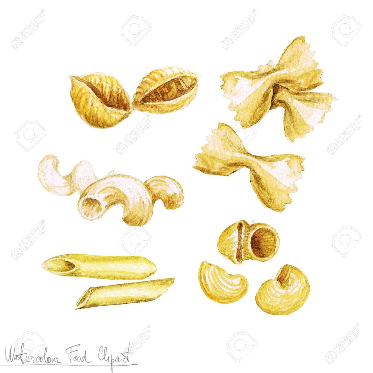 水彩食べ物クリップアート パスタ の写真素材画像素材 Image 52944172