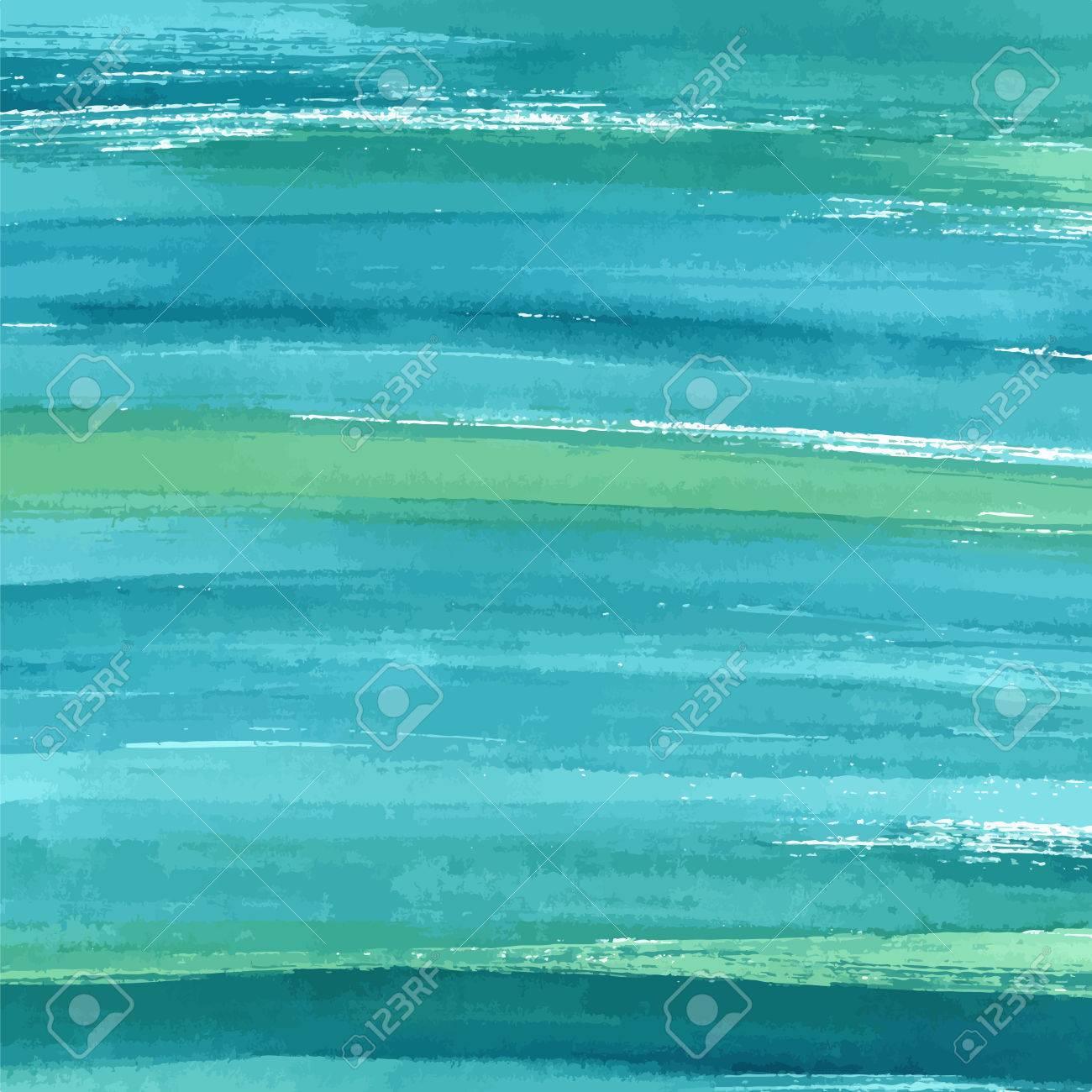 dibujado a mano azul turquesa acuarela abstracta textura de la pintura vector del fondo del