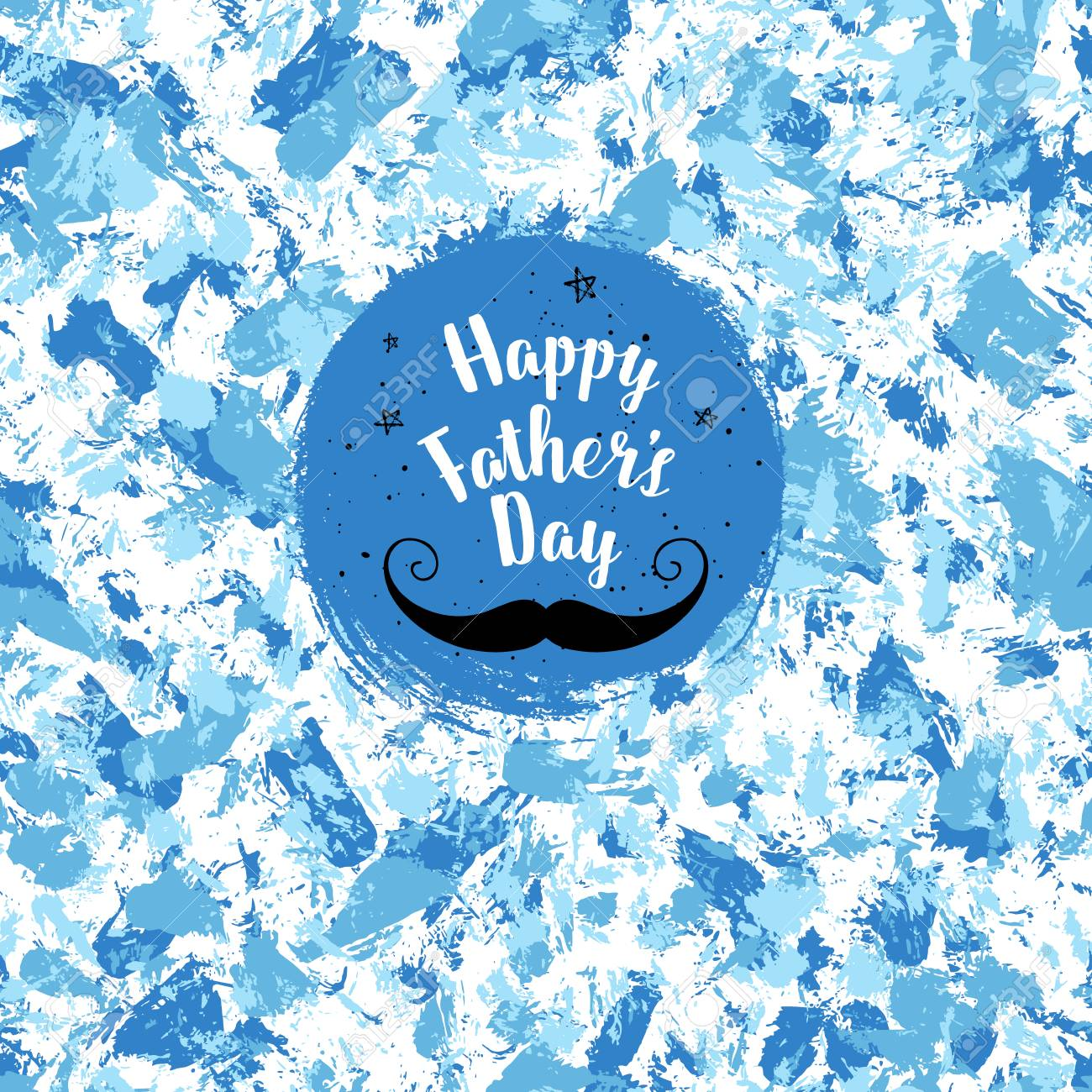Happy fathers day greeting card vector background with mustache happy fathers day greeting card vector background with mustache stars hand lettering m4hsunfo Image collections