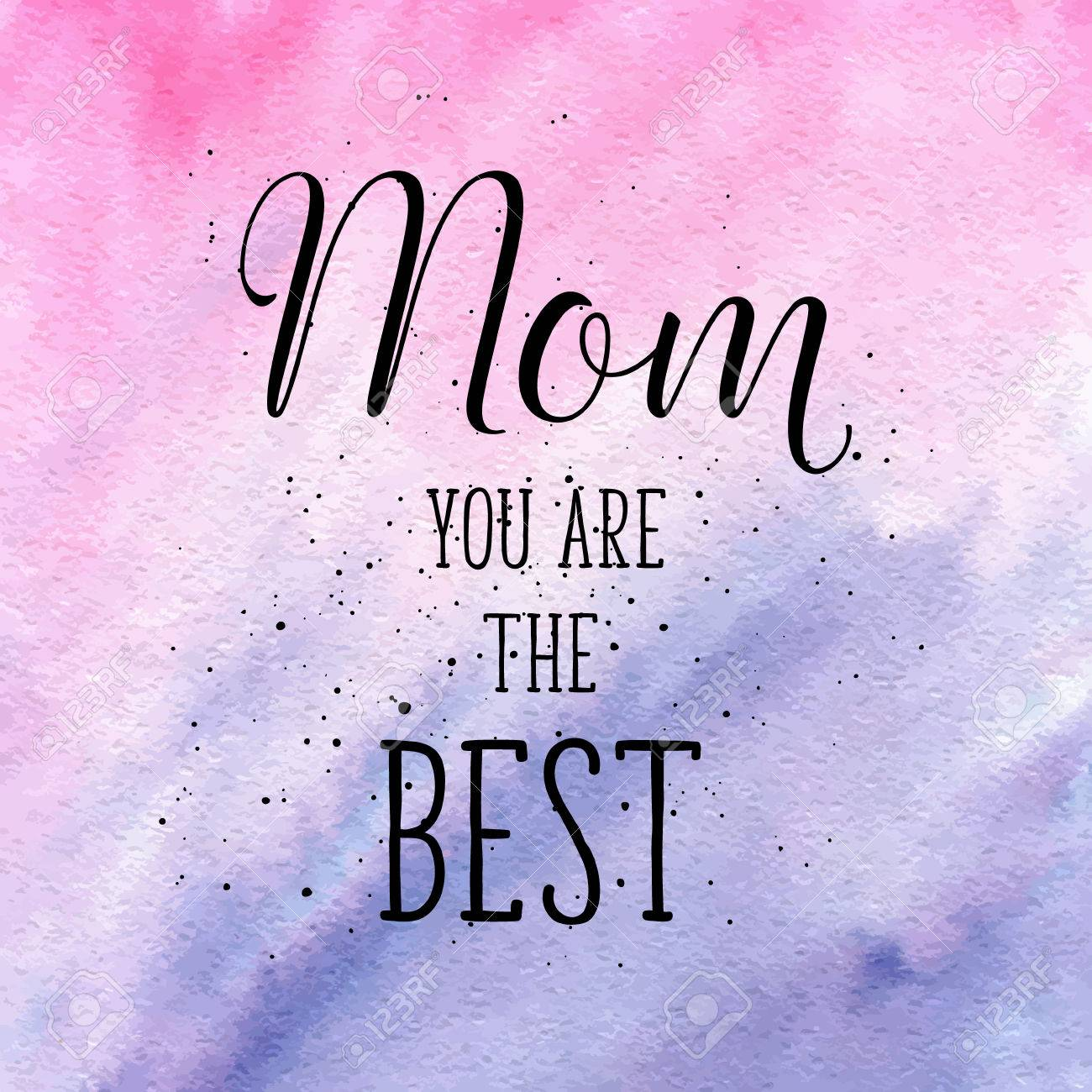 Mom you are the best greeting card on happy motherss day vector mom you are the best greeting card on happy motherss day vector hand lettering quote kristyandbryce Image collections