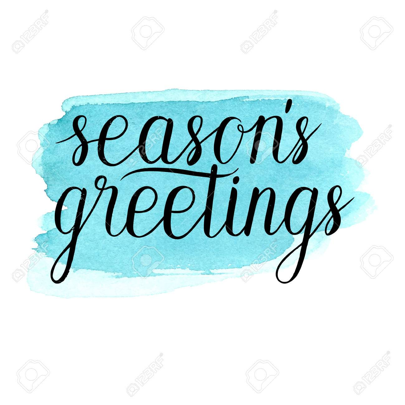 Seasons greetings card poster vector winter holidays background seasons greetings card poster vector winter holidays background with hand lettering hand drawn m4hsunfo