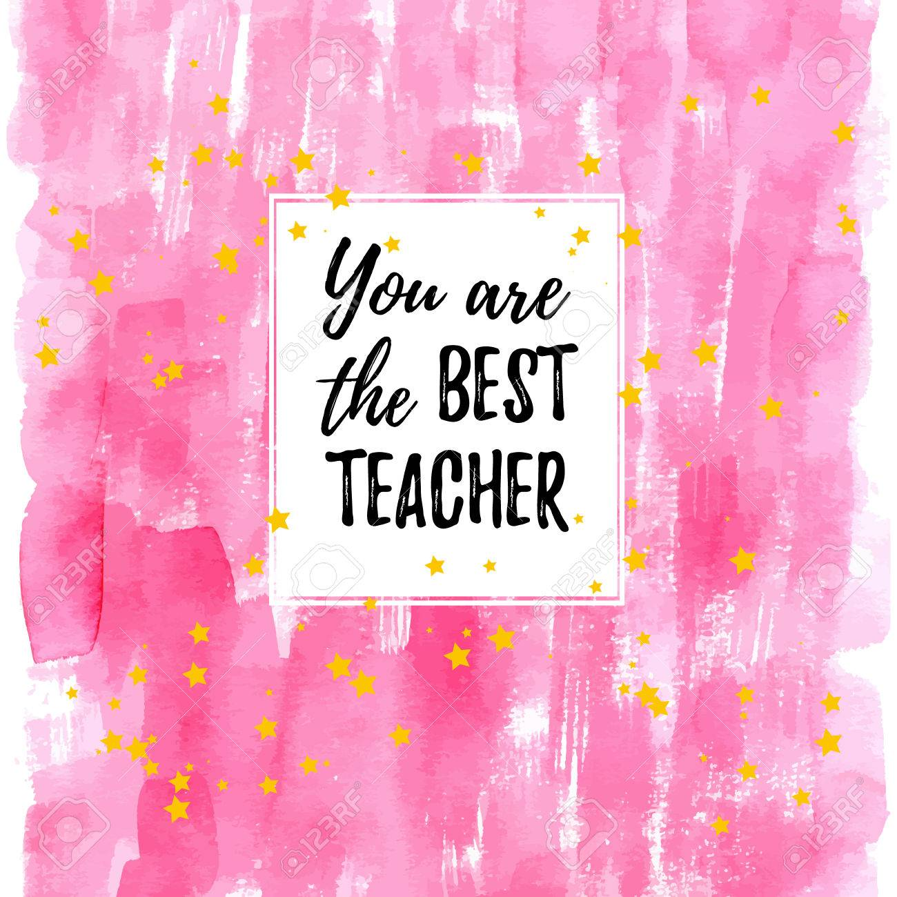 You are the best teacher label greeting card poster vector you are the best teacher label greeting card poster vector quote on a kristyandbryce Image collections