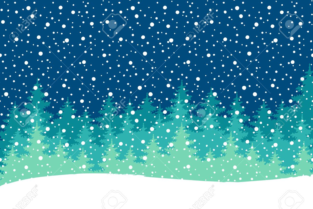 Happy Holiday Greeting Card Vector Winter Holiday Shine Blurred